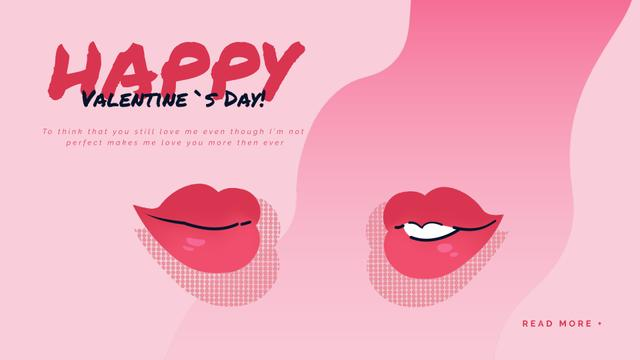 Kissing red lips on Valentine's Day Full HD videoデザインテンプレート