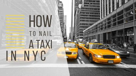 Taxi Cars in New York Youtube Thumbnail Modelo de Design