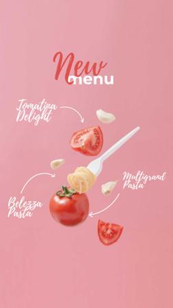 Pasta dish with Tomatoes Instagram Story – шаблон для дизайна