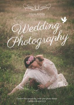 Wedding photography advertisement with Tender Bride