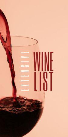Splash of Wine in Glass Graphic Tasarım Şablonu