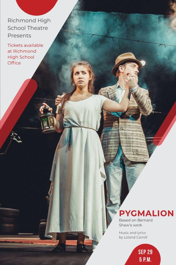 Theater Invitation Actors in Pygmalion Performance Tumblr Modelo de Design