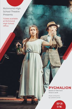 Plantilla de diseño de Theater Invitation Actors in Pygmalion Performance Tumblr