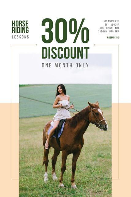 Ontwerpsjabloon van Tumblr van Riding School Promotion with Woman on Horse