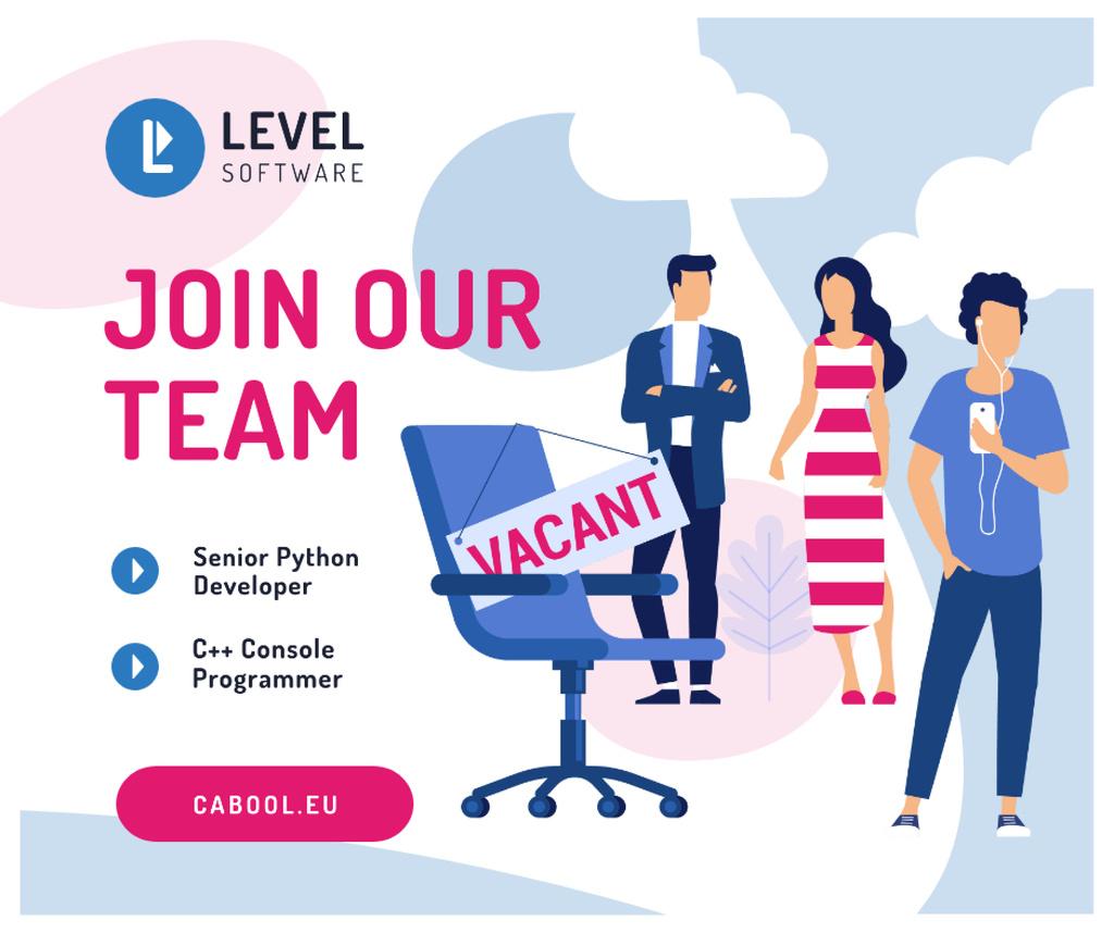 Job Offer People waiting for Interview — ein Design erstellen