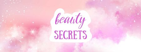 Beauty Secrets concept Facebook cover Modelo de Design