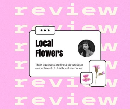 Flowers Store Customer's Review Facebook Design Template