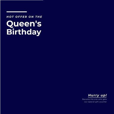London Tour Offer on Queen's Birthday Animated Postデザインテンプレート