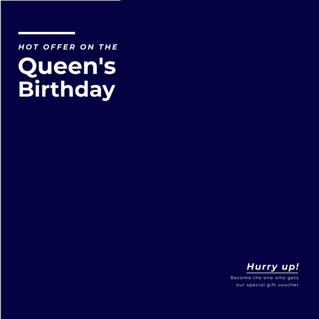 London Tour Offer on Queen's Birthday Animated Post Modelo de Design