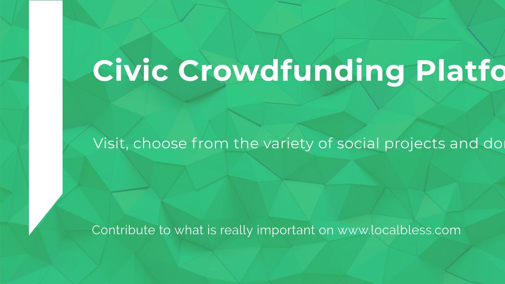 Crowdfunding Platform ad on Stone pattern —デザインを作成する