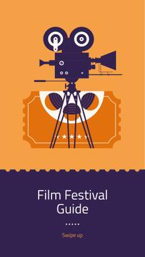 Film Festival guide with projector