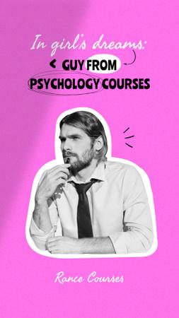 Ontwerpsjabloon van Instagram Story van Funny Joke about Guy from Psychology Courses