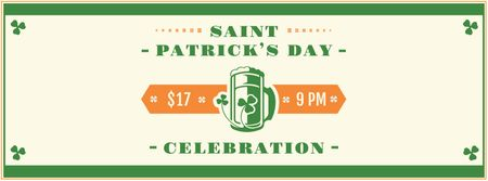St.Patrick's Day Holiday Celebration Announcement Facebook cover Modelo de Design