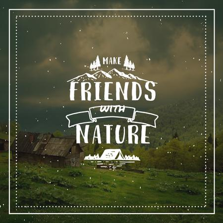 Plantilla de diseño de Nature Quote Scenic Mountain View Instagram AD