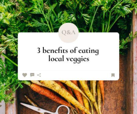 Designvorlage Local Veggies Ad with Fresh Carrot für Medium Rectangle