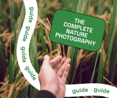 Photography Guide with Hand in Wheat Field Large Rectangle – шаблон для дизайну