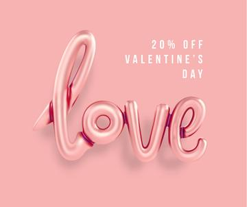 Valentine's Day sale with Love inscription