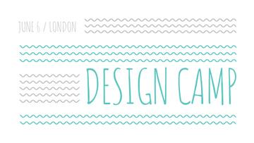 Design Camp promo on blue waves