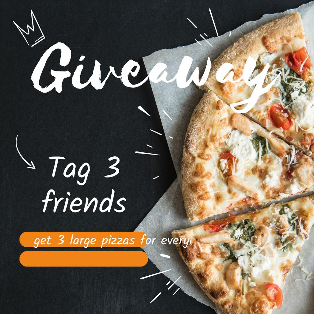 Giveaway Pizza Ad —デザインを作成する
