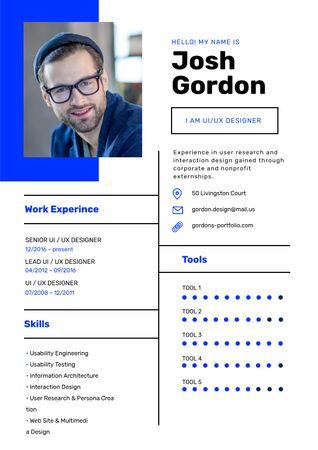 Professional Designer Profile Resumeデザインテンプレート