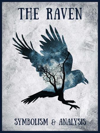 Modèle de visuel Artistic Raven Silhouette - Poster US