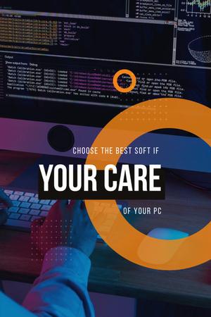 Modèle de visuel Computer Software concept - Pinterest