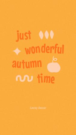 Inspirational Phrase about Autumn Instagram Story Design Template