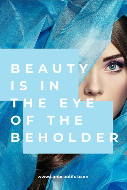 Website Ad with Young Woman Pinterest Modelo de Design
