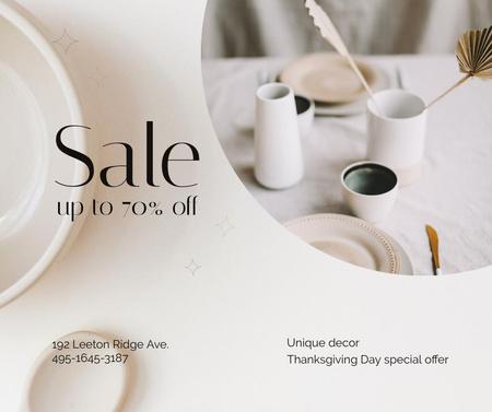Plantilla de diseño de Home Decor Offer for Thanksgiving Day Facebook