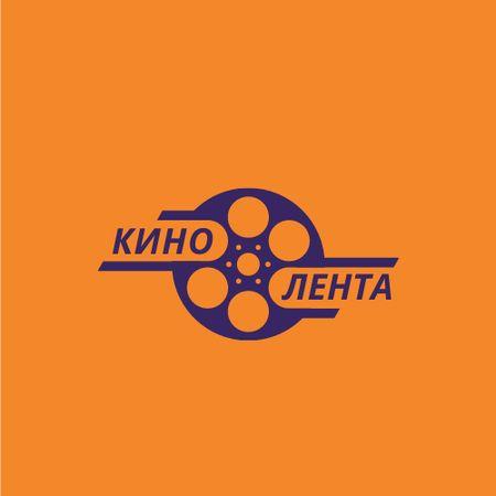 Cinema Film with Bobbin Icon Logo – шаблон для дизайна