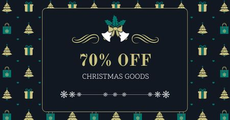 Christmas Goods Discount Offer Facebook AD Modelo de Design
