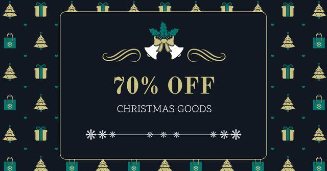 Plantilla de diseño de Christmas Goods Discount Offer Facebook AD