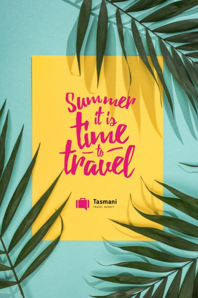 Szablon projektu Summer Travel Inspiration on Palm Leaves Tumblr