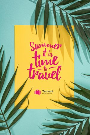 Summer Travel Inspiration on Palm Leaves Tumblr tervezősablon