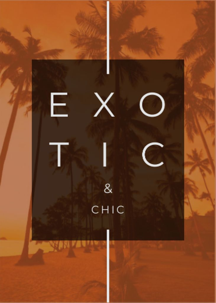Exotic Tropical Resort Palms in Orange — Створити дизайн