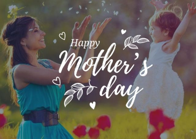 Happy Mother's Day Greeting Cardデザインテンプレート