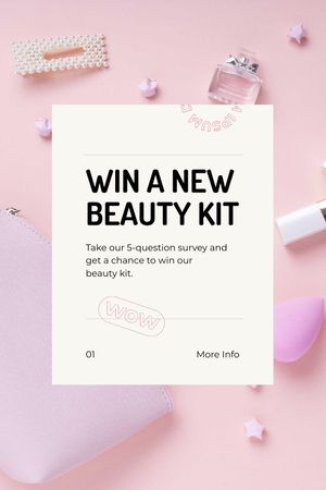 Beauty Kit giveaway Tumblr tervezősablon