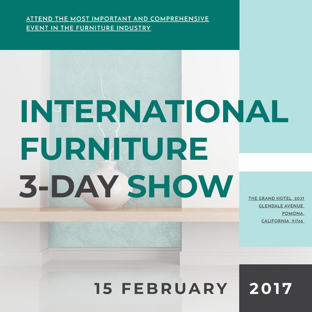 Furniture Show announcement Vase for home decor Instagram AD – шаблон для дизайну