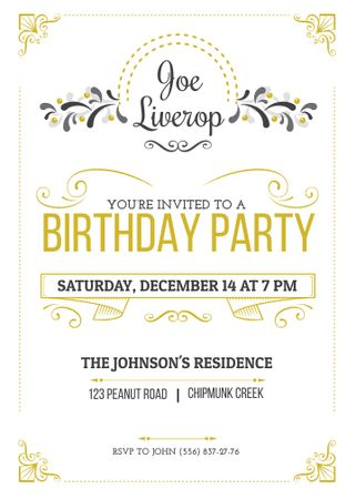 Modèle de visuel Birthday Party Invitation in Vintage Style - Flayer