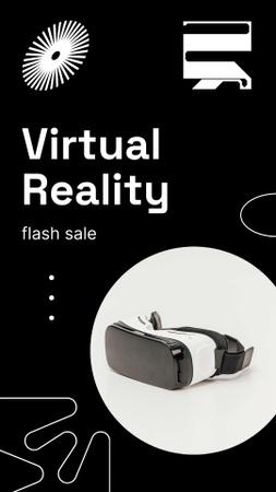 Ontwerpsjabloon van Instagram Story van VR Equipment Flash Sale Ad