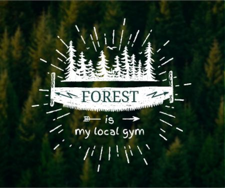 Plantilla de diseño de Forest quote poster Large Rectangle