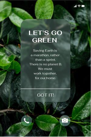 Modèle de visuel Eco Concept with Green Plant - Pinterest