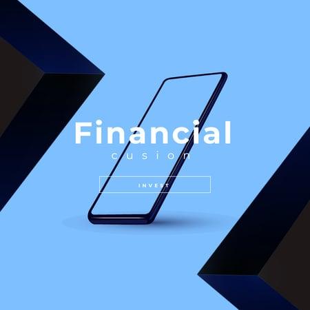 Ontwerpsjabloon van Animated Post van Financial investment Ad with Modern Smartphone