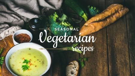 Ontwerpsjabloon van Youtube van Seasonal vegetarian recipes