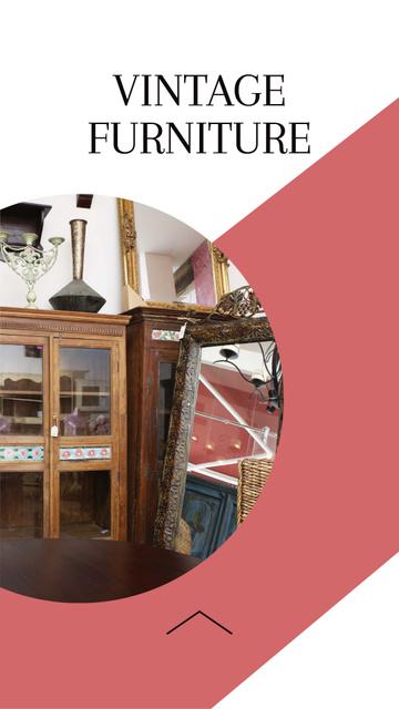 Vintage Furniture Sale Ad Instagram Story – шаблон для дизайна