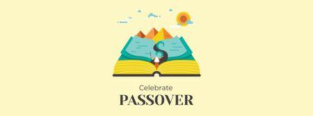 Modèle de visuel Passover Celebration with Open Book - Facebook cover