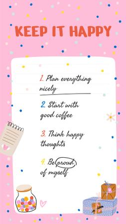 Mental Health Inspirational List Instagram Story Modelo de Design
