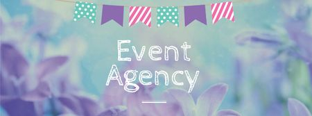 Event Agency Services Offer with Flowers Facebook coverデザインテンプレート