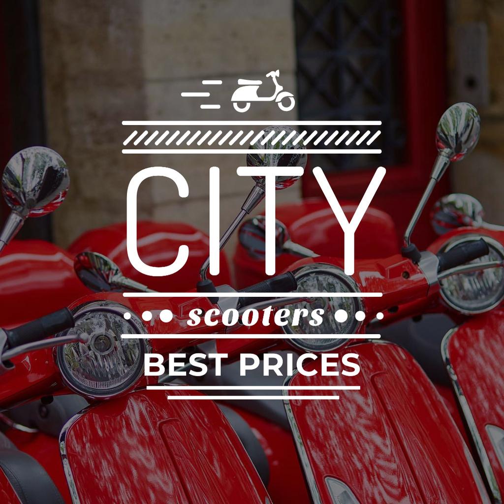 City scooters Store Offer Instagram – шаблон для дизайну