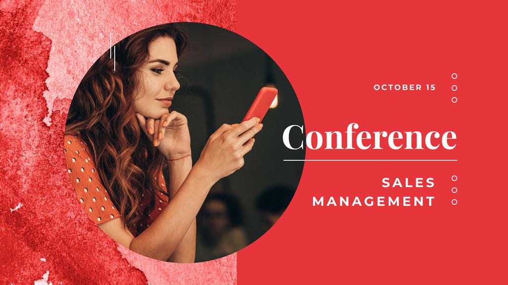 Plantilla de diseño de Sales Management Conference Announcement FB event cover